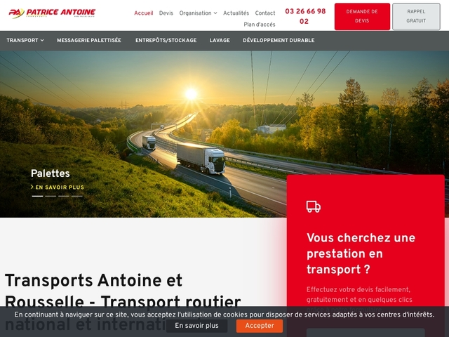 Transport routier de marchandise, Transporteur International ...