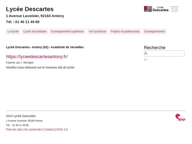 Lycée Descartes (Antony)
