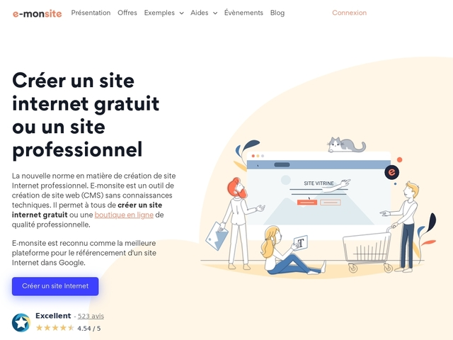 Faire un site internet gratuitement avec E-monsite
