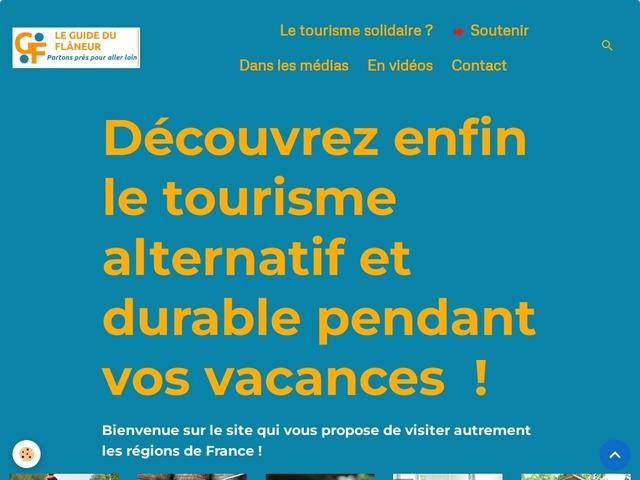 Le guide touristique solidaire - Le Guide du Flâneur