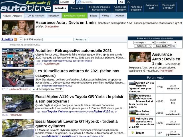 Autotitre.com : actualité automobile