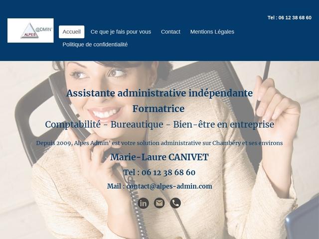 CHAMBÉRY - Alpes Admin' assistante, secrétaire indépendante, comptable