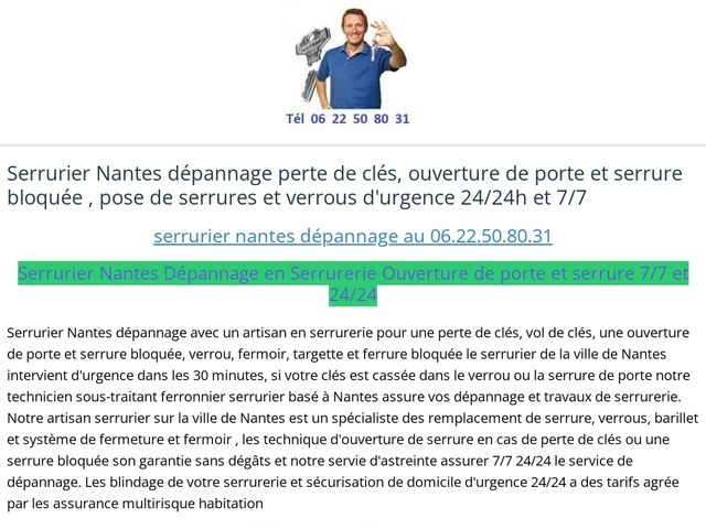 Top Serrurier Pro Nantes spécialiste en serrurerie