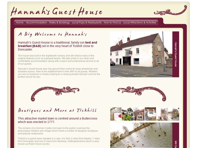 Hannah's Guest House - Tickhill - Doncaster - England.