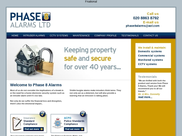 PHASE 8 ALARMS