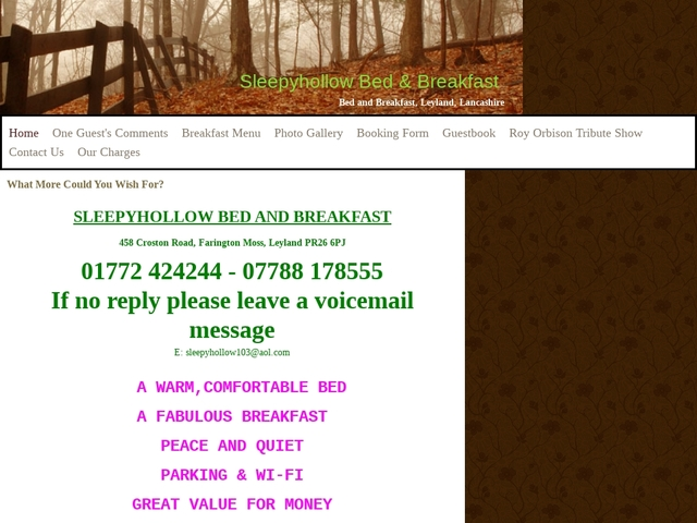 Sleepyhollow Bed & Breakfast - Preston - Lancashire - England.