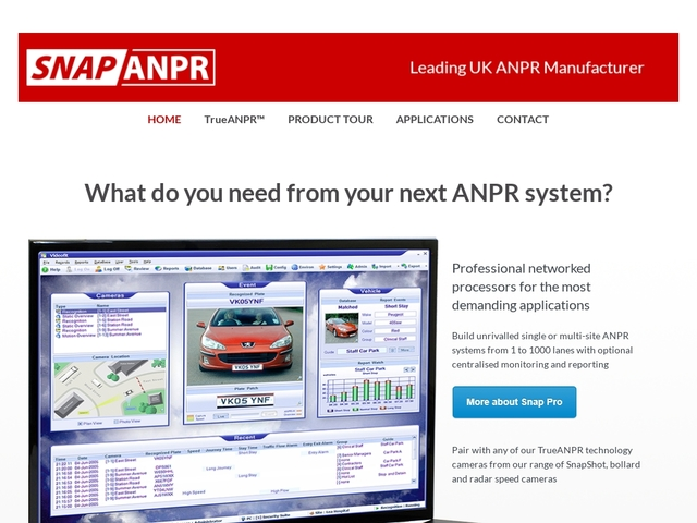 SNAP ANPR Systems - Leading in number plate recognition