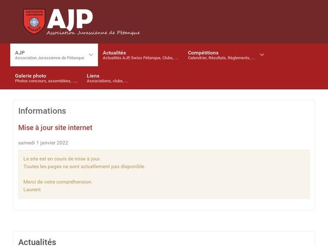 Association Jurassienne de Pétanque (AJP)