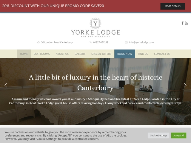 Yorke Lodge - 50 London Road - Canterbury - Kent.