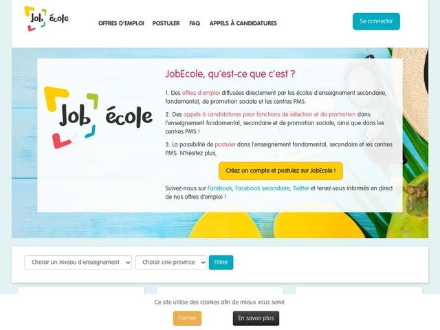 Offres d'emploi dans le fondamentales de Bruxelles et  Brabant wallon