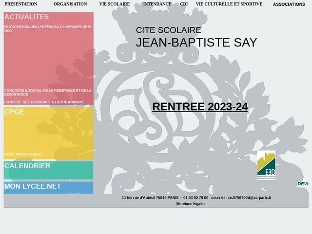 Lycée Jean Baptiste Say (Paris, 16 ème arrondissement)