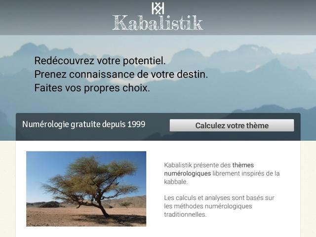 Kabalistik - votre thème numérologique gratuit