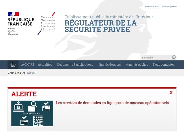 CNAPS : Conseil National des Activités Privées de Sécurité
