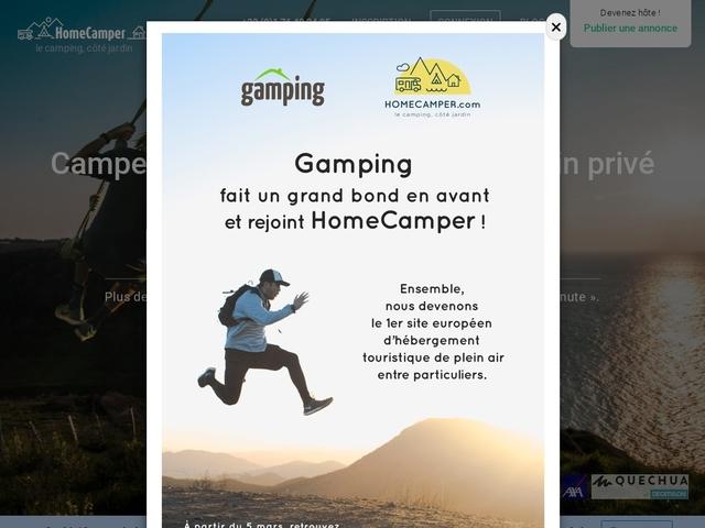 Gamping - Emplacement de camping ou jardins à louer entre particuliers
