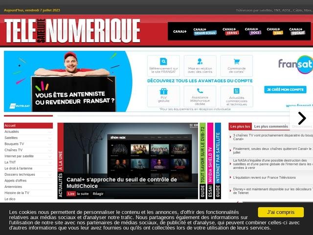 Télé Numérique : Le portail de la télévision numérique : Satellite, TNT, ADSL, Câble