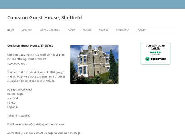Coniston Guest House - Hillsborough - Sheffield