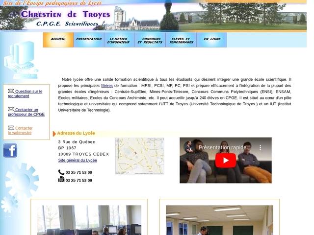 Lycée Chrétien de Troyes (Troyes)