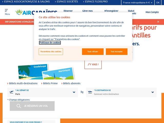 Air Caraibes - Voyage aux Antilles: partez en voyage aux Antilles