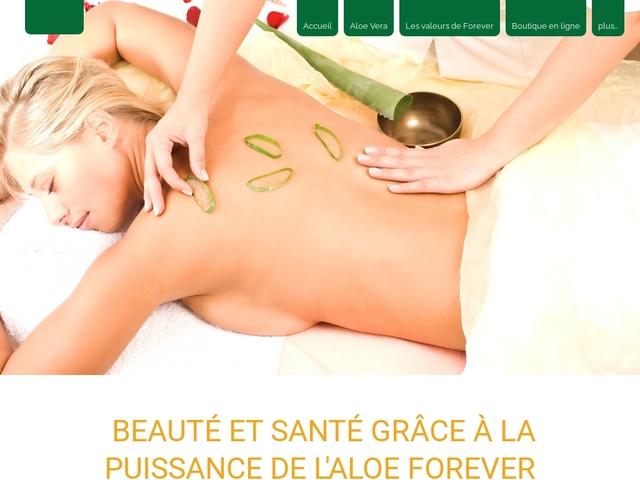 Aloe vera : cosmétiques vente et soins esthétiques à l'aloe vera