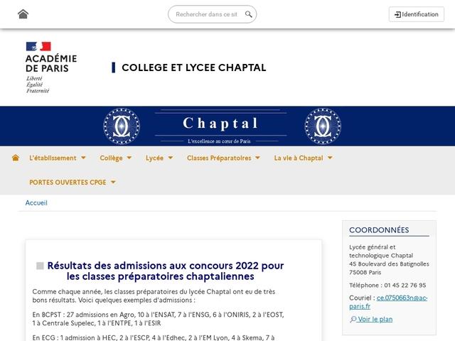 Lycée Chaptal (Paris, 8 ème arrondissement)