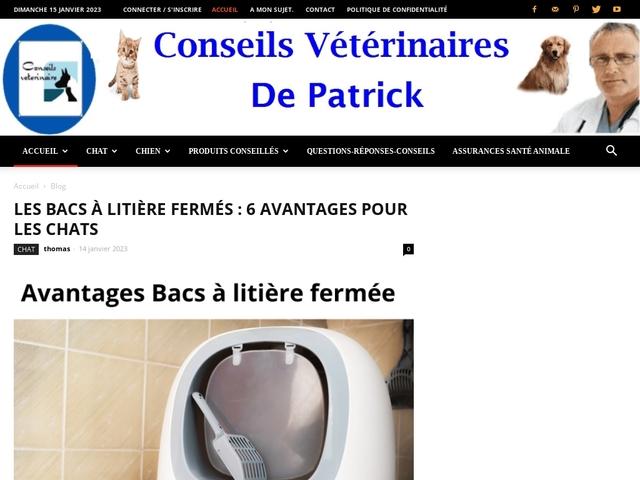 Conseils vétérinaires de Patrick