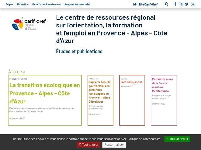 Observatoire Regional des Metiers - Provence Alpes Cote d'Azur