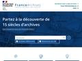Archives de France: Annuaire des archives départementales