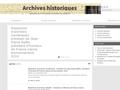 Catalogue des archives historiques du ministère de l'environnement