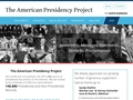 The American Presidency Project