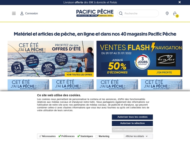 Pacific pêche Online