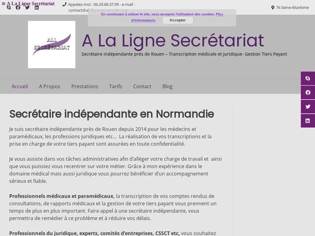 SAINTE MARGUERITE SUR DUCLAIR - A La Ligne Secrétariat