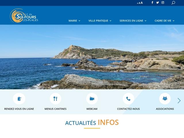 Site officiel de la Mairie de Six-Fours Les Plages