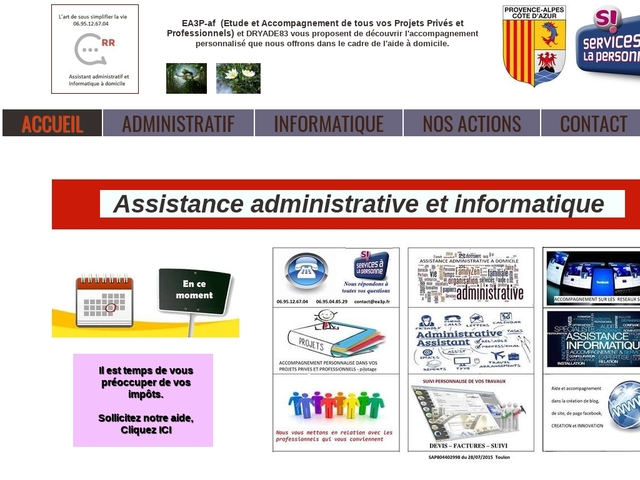 TOULON - DRYADE83 assistance administrative, informatique