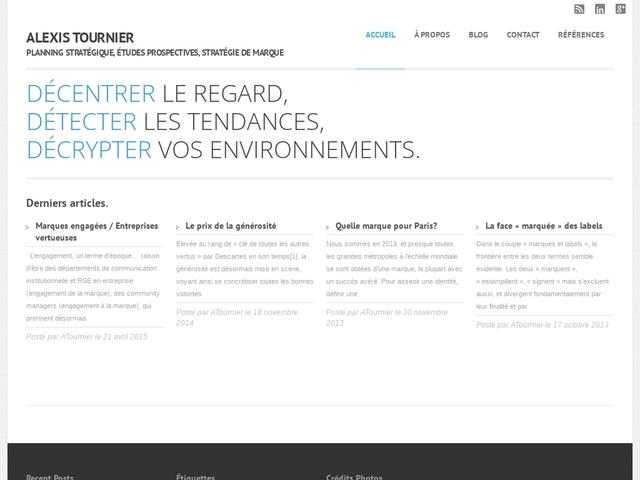 Tournier Alexis, prospective et stratégie
