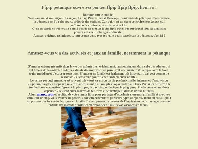 Fédération Française de Pétanque et Jeu Provençal (FFPJP)