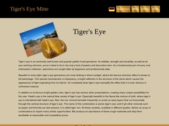 World of fantastic rough Tigers Eye
