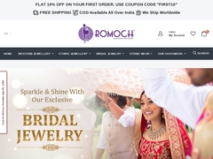 Fashionable and  Designer Jewellery online Store India|Romoch