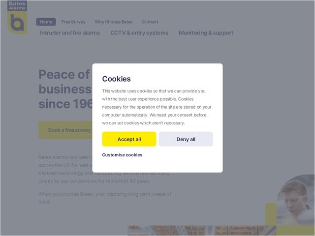 Bates Alarms - electronic security company Lonon UK