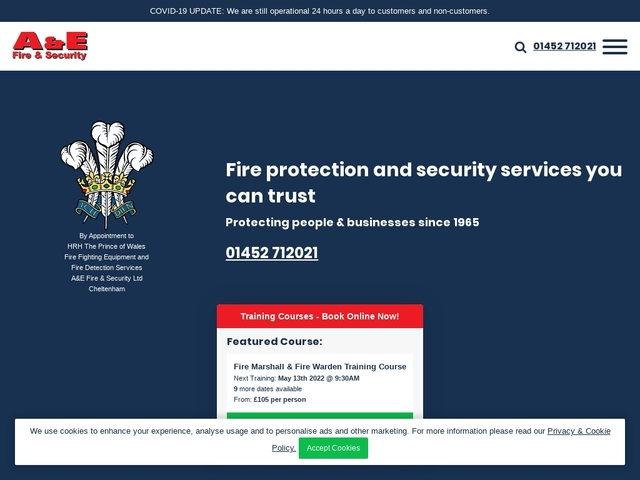 A&E Fire Equipment Ltd - Fire and Security Services