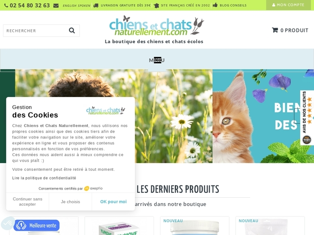 Chiens & Chats Naturellement Dorwest, produits naturels