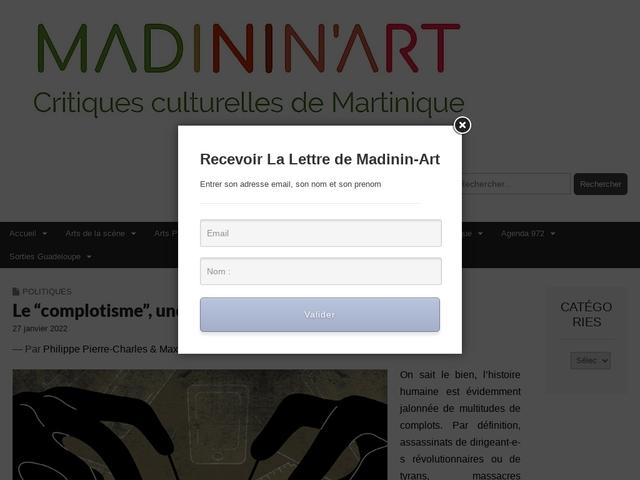 Madinin'Art Critiques Culturelles Martiniquaises