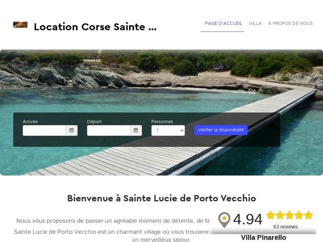 Location mini villa climatisée 5 pers. Pinarello en Corse
