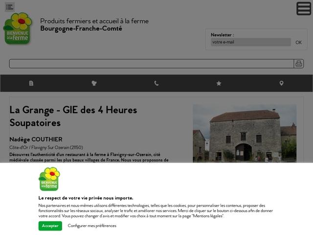 Ferme auberge La Grange Flavigny sur ozerain, Côte-d'Or (21)