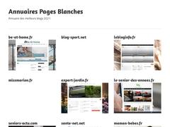 Pages Blanches - Annuaire de sites et des annuaires Pages Blanches