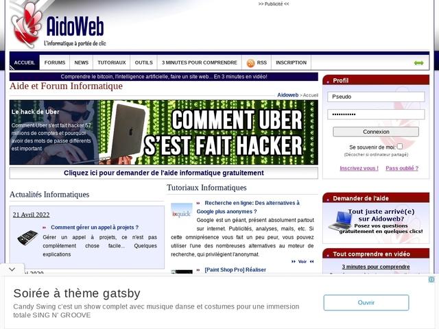 Aide et Forum Informatique - Aidoweb