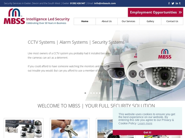 MBSSUK Security Systems |  CCTV & Alarm Systems | Exeter