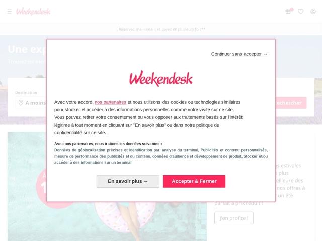 Séjours pas chers avec Weekendesk