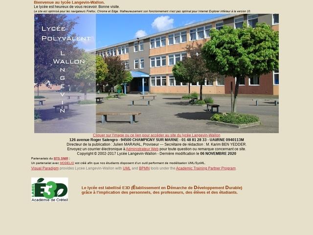 Lycée Langevin Wallon (Champigny sur Marne)