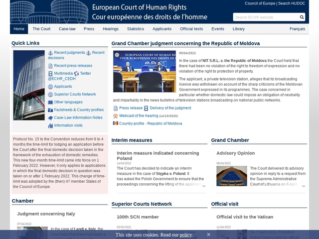 European Court of Human Rights (ECHR)