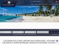 Location villas vacances avec piscine à Saint-François en Guadeloupe.